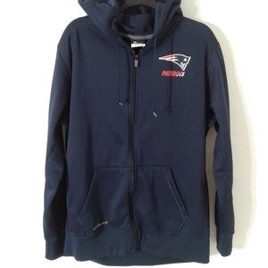 Nike Patriots Zip Up Hoodie XL